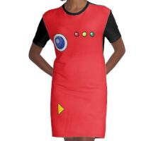 Pokedex All Over Print Graphic T-Shirt Dress