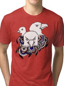 Mandala Bald Eagles Tri-blend T-Shirt