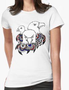 Mandala Bald Eagles Womens Fitted T-Shirt