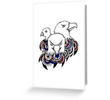 Mandala Bald Eagles Greeting Card