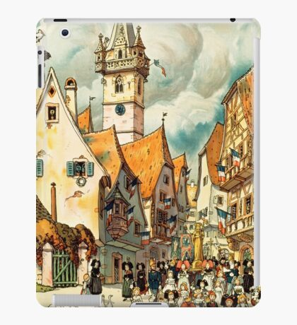 Obernai, French Travel Poster iPad Case/Skin