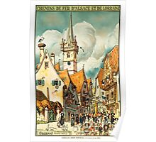 Obernai, French Travel Poster Poster