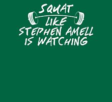 Squat Like Stephen Amell Is Watching Womens Fitted T-Shirt