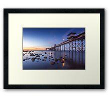 Llanduno Pier Sunset Framed Print
