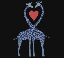Giraffes in Love - A Valentine's Day Illustration One Piece - Long Sleeve