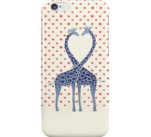 Giraffes in Love - A Valentine's Day Illustration iPhone Case/Skin