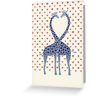 Giraffes in Love - A Valentine's Day Illustration Greeting Card