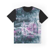 Modern-Art LONDON Tower Bridge & Big Ben Composing  Graphic T-Shirt