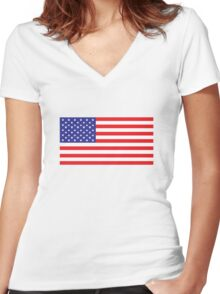 T - Shirt Stars and Stripes Women's Fitted V-Neck T-Shirt