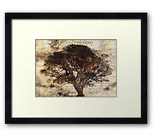 Trees sing of Time - Vintage 2 Framed Print