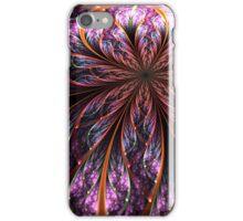 Dark Purple Flower - Abstract Fractal Artwork iPhone Case/Skin