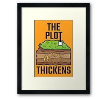 The Plot Thickens Framed Print