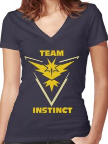 Pokemon Go | Team Instinct Women's Fitted V-Neck T-Shirt