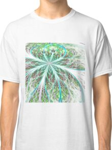Light Green Flower - Abstract Fractal Artwork Classic T-Shirt