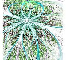 Light Green Flower - Abstract Fractal Artwork Photographic Print