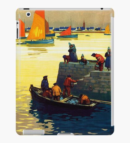 Ile Tudy-Finistere, French Travel Poster iPad Case/Skin