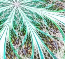 Light Green Flower - Abstract Fractal Artwork Sticker