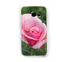 Pink rose and wire fence Samsung Galaxy Case/Skin