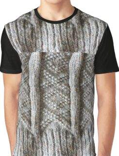 Aran Knitted Panel Graphic T-Shirt