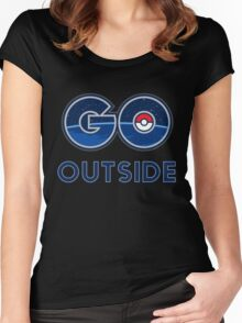 Pokemon Go Outside Women's Fitted Scoop T-Shirt