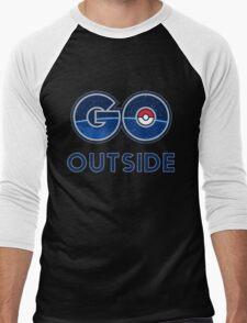 Pokemon Go Outside Men's Baseball ¾ T-Shirt