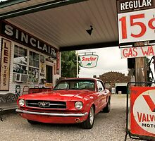 Gas Station Mustang by Andrew Felton