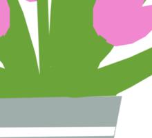 Tulips Tee, Throw Pillows, Tote Bag Sticker