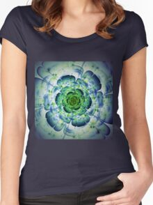 Flower - Abstract Fractal Artwork Women's Fitted Scoop T-Shirt