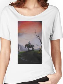 Lone horseman at the waterfall Women's Relaxed Fit T-Shirt