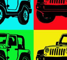 Jeep colorful pop art Sticker