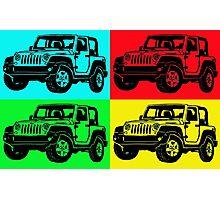 Jeep colorful pop art Photographic Print