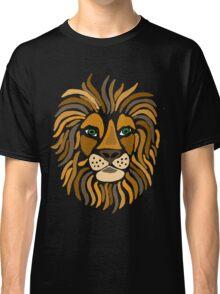 Fun Artistic Regal Lion Art Abstract Classic T-Shirt