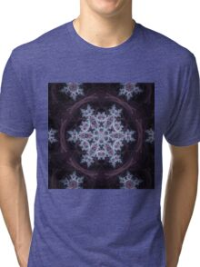 Snowflake Mandala - Abstract Fractal Artwork Tri-blend T-Shirt