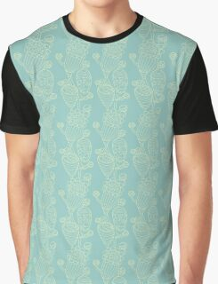 Cosmic Flowers Blue Graphic T-Shirt