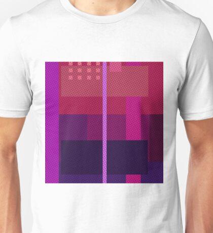 Geometry  - violet squares Unisex T-Shirt