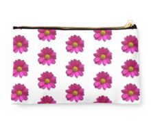 Pink Imperfect Daisy (on white) Studio Pouch
