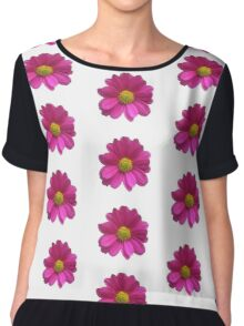 Pink Imperfect Daisy (on white) Chiffon Top