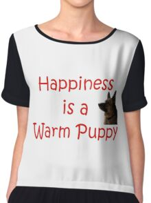 Happiness is a Warm Puppy Chiffon Top