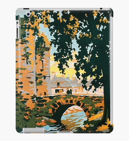 Bretagne et Normandie, French Travel Poster iPad Case/Skin