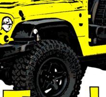 Yellow go topless Jeep Sticker