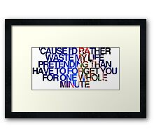 One whole minute Framed Print