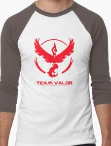 Pokemon Go - Team Valor Men's Baseball ¾ T-Shirt
