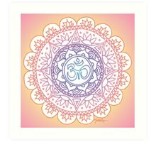Peaceful Ohm Mandala Design Art Print