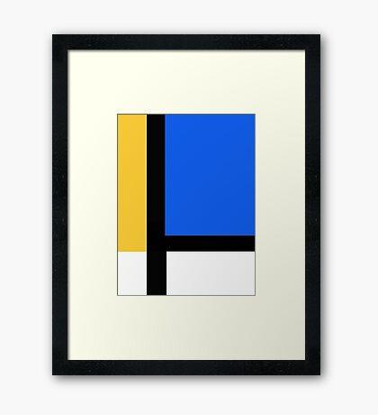 primary grid Framed Print
