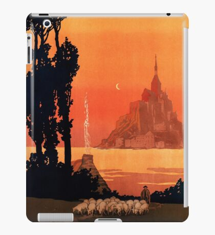 Mont St Michel, French Travel Poster iPad Case/Skin