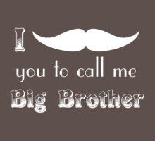 Big Brother - White Baby Tee