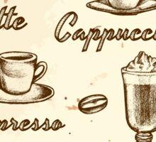 Coffee Menu Sticker