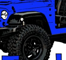 Blue go topless Jeep Sticker