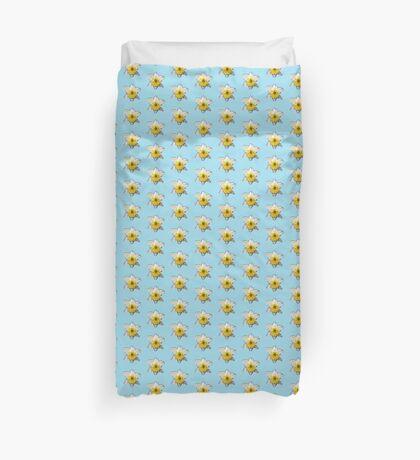Narcissus on Blue Duvet Cover