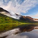 Glen Coe. Loch Achtriochtan and Aonach Eagach reflection. Highland Scotland. by PhotosEcosse